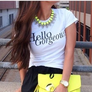 New! Neon and Glam Chocker Necklace